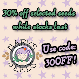 30% OFF CLEARANCE SALE - MARY'S SEEDS